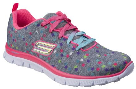Skechers Appeal Star Streamer Trainers (Grey Pink) 31 only!